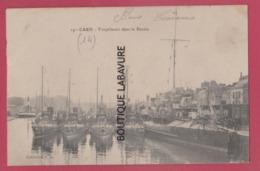 14 - CAEN---Torpilleurs Dans Le Bassin - Caen