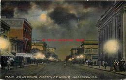 274549-South Dakota, Aberdeen, Main Street, Looking North At Night - Aberdeen