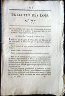 51 REIMS  BOULANGER ORDONNANCE SUR L'EXERCICE DE BOULANGER AVEC SES REGLES  OBLIGATIONS ET TARIFS  1823 - Décrets & Lois