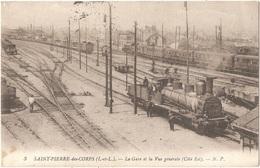 Dépt 37 - SAINT-PIERRE-DES-CORPS - La Gare Et La Vue Générale (Côté Est) - N. P. N° 3 (cachet De Gare Au Verso) - Train - Autres Communes