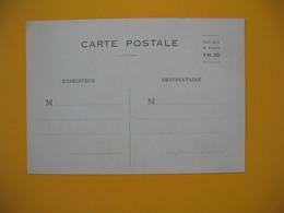 Entiers Postaux - Carte Postale Taxe Pour La France  1 Fr. 20 - Cartes Postales Types Et TSC (avant 1995)