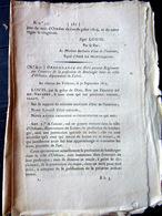 75 PARIS BANLIEUE BOULANGER ORDONNANCE SUR L' EXERCICE DE BOULANGER AVEC SES REGLES  OBLIGATIONS ET TARIFS  1823 - Décrets & Lois