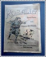 Partition ROSALIE - Chanson Marche  Par Théodore BOTREL - Baïonnette - Pub Petit Journal - Muziek & Instrumenten