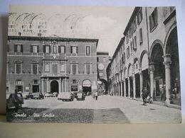 1961 - Imola - Via Emilia - Bar Alemagna - Sali E Tabacchi - Piazzetta Dell'Orologio - Animata Auto - Cartolina D'epoca - Imola