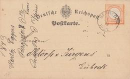 DR Karte EF Minr.18 K1 Bergedorf 13.6.73 Gel. Nach Lübeck - Briefe U. Dokumente
