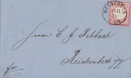 DR Brief EF Minr.19 K1 Merseburg 13.11.72 Gel. Nach Reichenbach - Deutschland