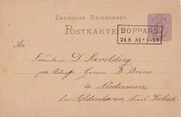 DR Ganzsache R2 Boppard 24.8.81 - Briefe U. Dokumente