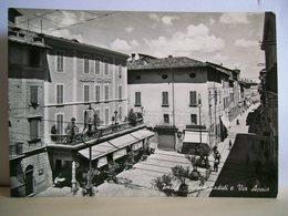 1953 - Imola - Piazza Caduti E Via Appia - Albergo Commercio - Negozio Calzature - Animata - Cartolina Storica Originale - Imola