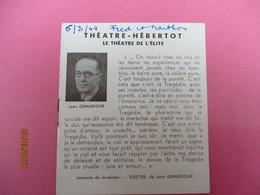 Théatre HEBERTOT/Le Théatre De L'Elite/Sodome Et Gomorrhe/Jean Giraudoux/Edwige Feuillére/Gérard Philipe/1944    PROG209 - Programmes