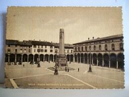 1949 - Imola - Palazzo Sersanti - Piazza Matteotti - Animata - Cartolina Storica Originale - Imola