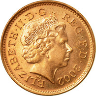 Monnaie, Grande-Bretagne, Elizabeth II, Penny, 2002, TTB, Copper Plated Steel - 1971-… : Monnaies Décimales