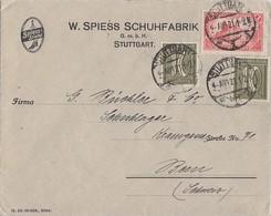 DR Brief Mif Minr.A113,2x 159 Stuttgart 2.8.21 Gel. In Schweiz - Deutschland