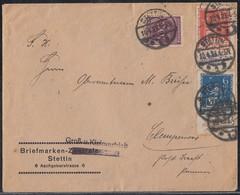 DR Brief Mif Minr.233,234,268 Stettin 10.4.23 Geprüft - Deutschland