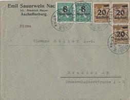 DR Brief Mif Minr.2x 278,3x 281 Aschaffenburg 3.9.23 - Deutschland