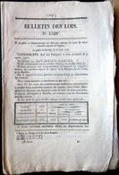 TABAC CIGARES ORDONNANCE QUI AUTORISE LE VENTE DE DEUX ESPECES DE CIGARES CUBA ET MANILLE AVEC TARIFS 1846 - Décrets & Lois