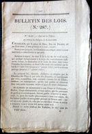TABAC LOI CONFIRMANT LE MONOPOLE DE LA REGIE DES TABACS POUR LA FABRICATION ET LA VENTE 1816 - Décrets & Lois