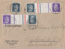 DR Brief Mif Minr.783, Zdr. Minr.2x KZ 39 Braunschweig 30.12.41 - Deutschland