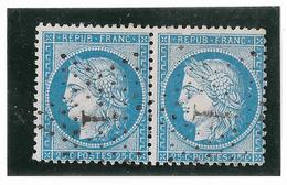 TIMBRES N° 60/1 ;  PAIRE 67/68  B2 ,  TTB - 1871-1875 Cérès