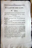 HORLOGERIE ORDONNANCE POUR LE POINCONNAGE DES BOITIERS DE MONTRES EN OR OU ARGENT 1821 - Décrets & Lois
