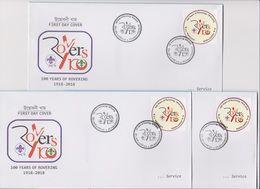 Bangladesch 2018 Scout 3 Diff Postmark 100 Years Of Rovering 10tk Low Value FDC From 3 GPO Scouting Scoutisme RARE - Unclassified