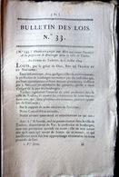 83 TOULON BOULANGER ORDONNANCE SUR L' EXERCICE DE BOULANGER AVEC SES REGLES  OBLIGATIONS ET TARIFS  1814 - Décrets & Lois