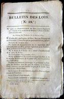 BOUCHER ABATTOIRS  ORDONNANCE SUR L' EXERCICE DE BOUCHER  AVEC SES REGLES  OBLIGATIONS ET TARIFS  1825 - Décrets & Lois