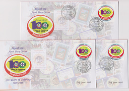 Bangladesch 2018 Scout 3 Diff Postmark 100 Years Of Cubbing 1v Value FDC From 3 GPO Scouting Scoutisme RARE - Unclassified