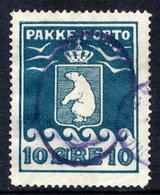 GREENLAND Parcel Post 1915 10 Øre Perforated 11¼ Used.  Michel 7A - Parcel Post
