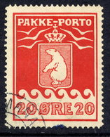 GREENLAND Parcel Post 1915 20 Øre Perforated 11¼ Used.  Michel 9A - Parcel Post