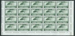 Italia 1962; Posta Aerea Democratica: Lire 5 Filigana Stelle. Blocco Di 20 Valori Con 2 Angoli Inferiori. - 1946-.. République