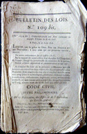 DROIT CODE CIVIL NOUVELLE EDITION DU CODE CIVIL DE 1816 ANNULANT LE CODE NAPOLEON DE 1804 - Décrets & Lois