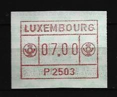 LUXEMBURG - ATM Mi-Nr. 1 - 7 Franken Postfrisch (6) - Viñetas De Franqueo