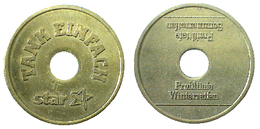 03624 GETTONE TOKEN JETON ADVERTISING TANK EINFACH STAR TIRES TEST GETTONE CONTROLLO PNEUMATICI - Germany