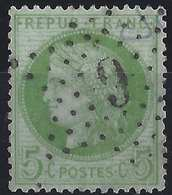CERES 1871 N°53d 5c Vert Clair Sur Blanc,obl Etoile 6 De Paris, Superbe ! - 1871-1875 Ceres