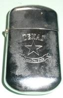Rare Briquet Tempête à Essence TEXAS Lone Star State, Style Zippo - Briquets