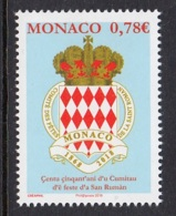 3.- MONACO 2018 150th Anniversary Of The Saint Roman Feast Committee - Unused Stamps