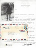 DONALD WEIR PATON (? - ?) 1 LS + 1 Photo AS AVIATION ANGLAISE RAF AUTOGRAPHE ORIGINAL AUTOGRAPH /FREE SHIP. R - Autographs