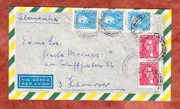 Luftpost, MiF Bonifacio U.a., Sao Paulo Nach Hamburg 1962 (58266) - Cartas