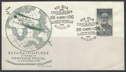 España 1124 SPD. 1953. Legazpi - 1951-60 Storia Postale