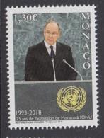 1.- MONACO 2018 25th Anniversary Of Monaco's Membership To The United Nations - UNO