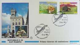 L) 1999 SAN MARINO, FAUNA, FOX, ANIMALS, ARCHITECTURE, NATURE, FDC - FDC