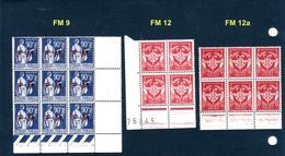 Lot 19 Timbres Franchise Militaire N° 9  Et  12 Neufs ** - Franchise Militaire (timbres)