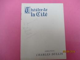 Théâtre De La Cité/ Charles Dullin / Richard III/ Shakespeare/ Marcel D'Orval/ 1943    PROG212 - Programmes