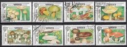 Mongolia 1991 Sc. 2086/2093 Mushrooms Funghi Champignons : Marasmius Amanita. Full Set CTO Boletus - Funghi