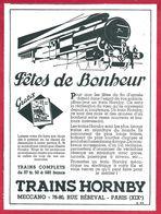 Jeux. Train Hornby, Meccano. 1930 - Publicités