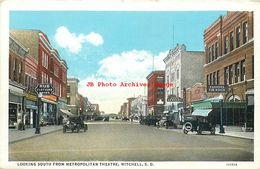 274561-South Dakota, Mitchell, Business Section Looking South From Metropolitan Theatre, L.E. Stair Curt Teich No 115774 - Etats-Unis