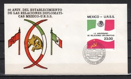Mexiko, Brief, Gebraucht, Dipl. Bez. Mex.-UdSSR, Kaktus / Mexico, Cover, Used, Dipl, Rel. Mex.-USSR, Cactus - Sukkulenten