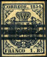 3771. España Nº 34S. Escudo De España. Año 1854 - 1850-68 Royaume: Isabelle II