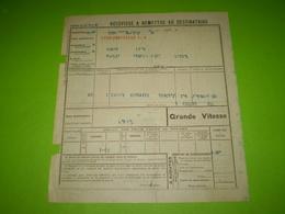 Chemin De Fer PLM,griffe Linéaire De La Gare De LYON BROTTEAUX P.L.M. Titre De Transport En Grande Vitesse Pour Loriol - Titres De Transport