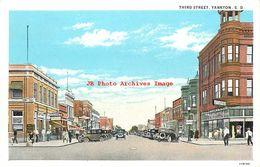 274575-South Dakota, Yankton, Third Street, Business Section, Curt Teich No 119190 - Etats-Unis